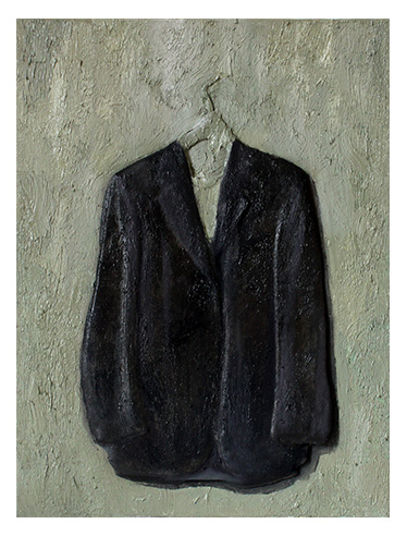 Jacket oil Panting gray on green