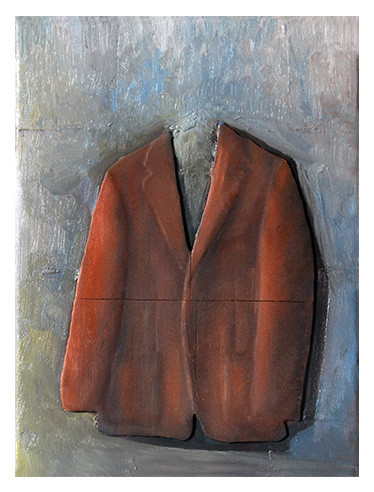 Jacket Painting – oil on canvas and 3D printing